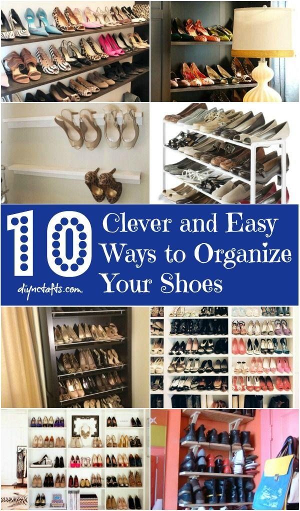 10 Clever y maneras fáciles de organizar sus zapatos