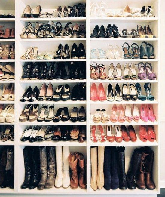 Medida de almacenamiento de calzado