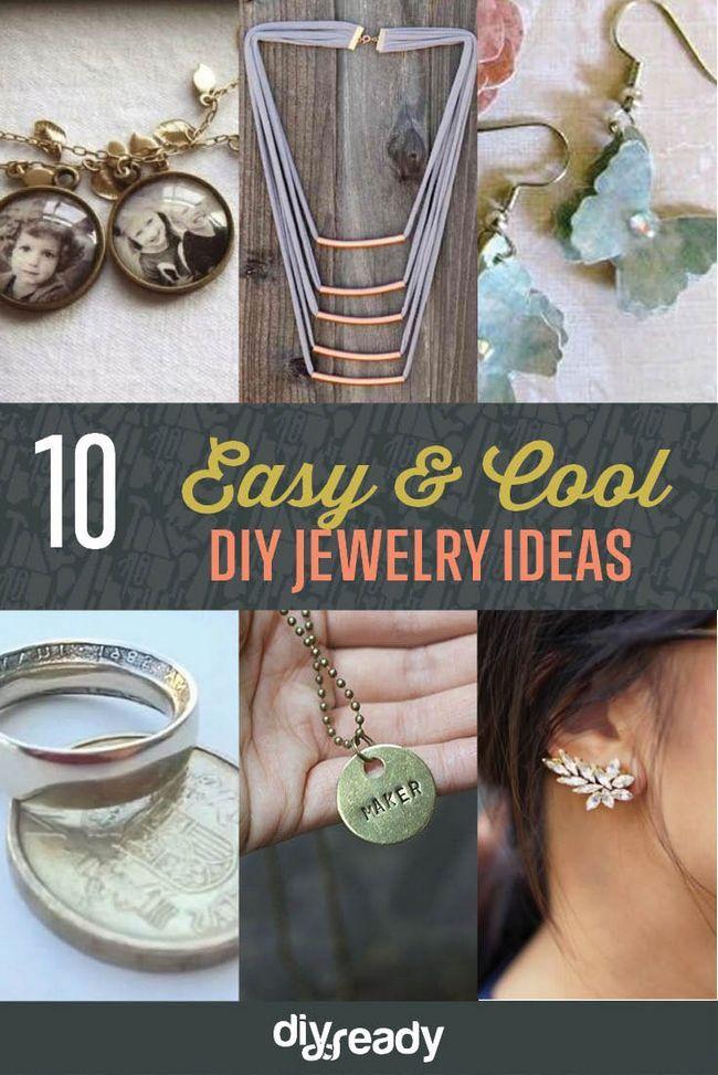 10 sencillos y frescos Ideas joyería de bricolaje | Accesorios de bricolaje, ver más en http://artesaniasdebricolaje.ru/diy-jewelry-cool-easy-diy-jewelry-ideas