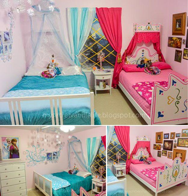 Echa un vistazo a 10 ideas de bricolaje dormitorio para aficionados congelados en http://artesaniasdebricolaje.ru/10-diy-bedroom-ideas-for-frozen-fans/