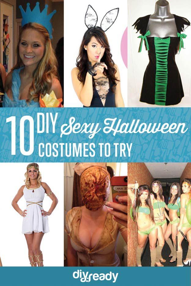 10 Disfraces de Halloween de bricolaje para probar, ver más a http://artesaniasdebricolaje.ru/10-diy-sexy-halloween-costumes