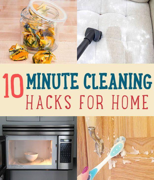 10 Minuto Limpieza Hacks para el hogar   artesaniasdebricolaje.ru/10-minute-cleaning-hacks-that-will-keep-your-home-sparkling/