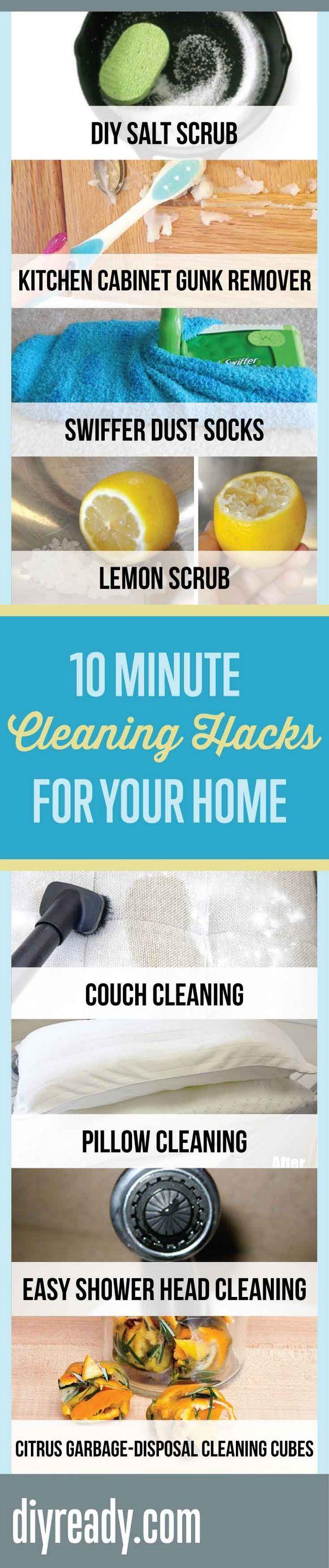 Consejos de limpieza para el hogar   Fácil para el hogar Hacks por DIY listo en http://artesaniasdebricolaje.ru/10-minute-cleaning-hacks-that-will-keep-your-home-sparkling/