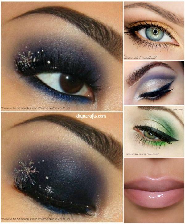 10 Ideas de maquillaje con estilo festivo de Navidad! Realmente buenas ideas !!