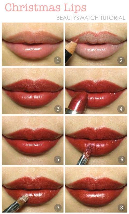 Labios deliciosos - 10 Ideas de maquillaje con estilo festivo de Navidad