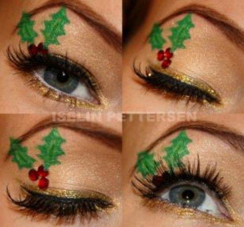 Muérdago Maquillaje - 10 Ideas de maquillaje con estilo festivo de Navidad