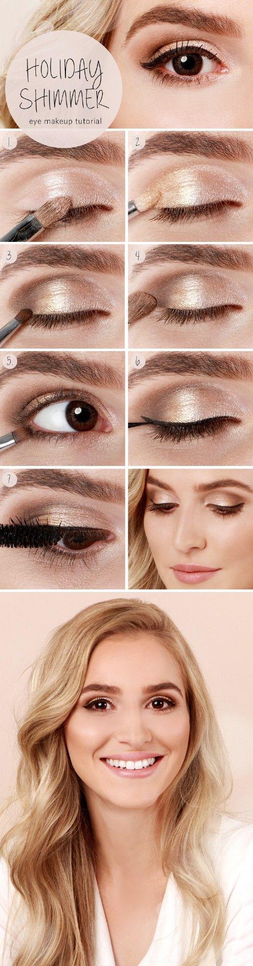 Sutil Shimmer - 10 Ideas de maquillaje con estilo festivo de Navidad
