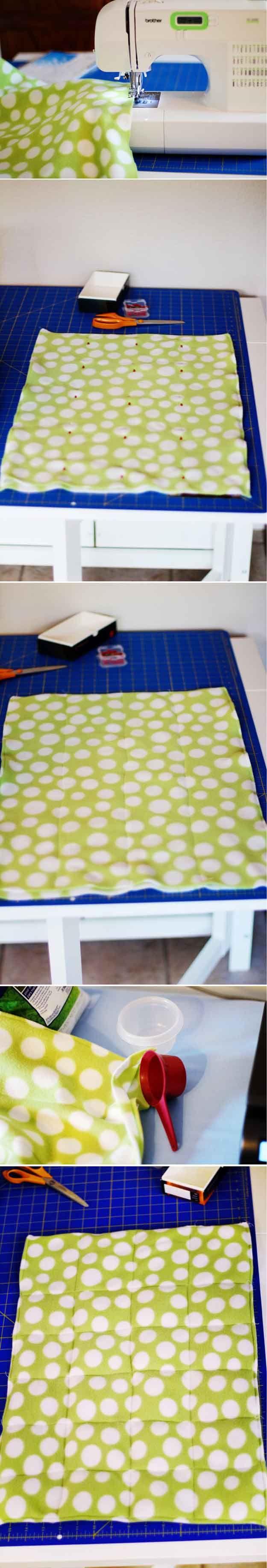 Cómo hacer un Tutorial Manta ponderado | http://artesaniasdebricolaje.ru/11-weighted-blanket-diy/