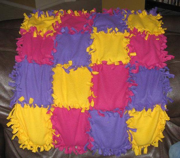 Fácil casera inspiración Manta ponderado | http://artesaniasdebricolaje.ru/11-weighted-blanket-diy/