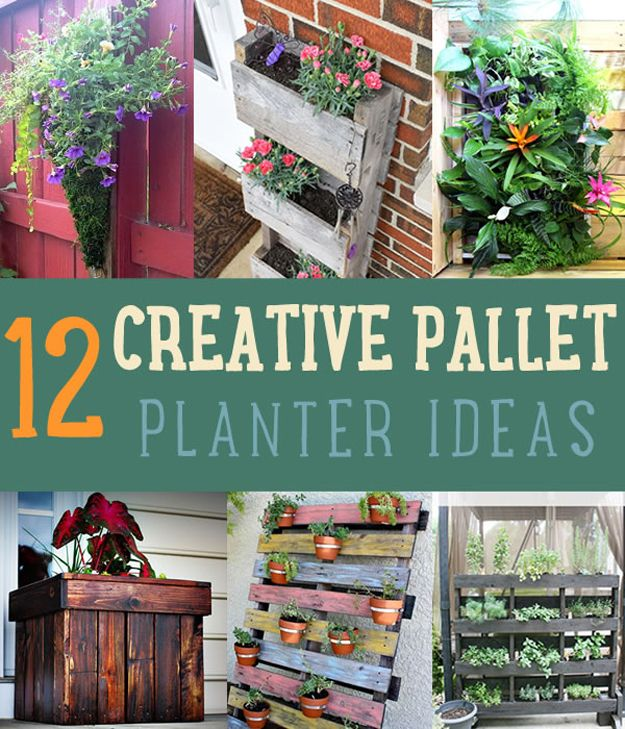 12 ideas creativas Pallet Jardinera | artesaniasdebricolaje.ru/pallet-projects-gardening-supplies/