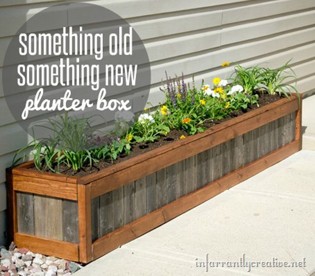 Bricolaje paletas Planter Box Proyectos e Ideas | artesaniasdebricolaje.ru/pallet-projects-gardening-supplies/