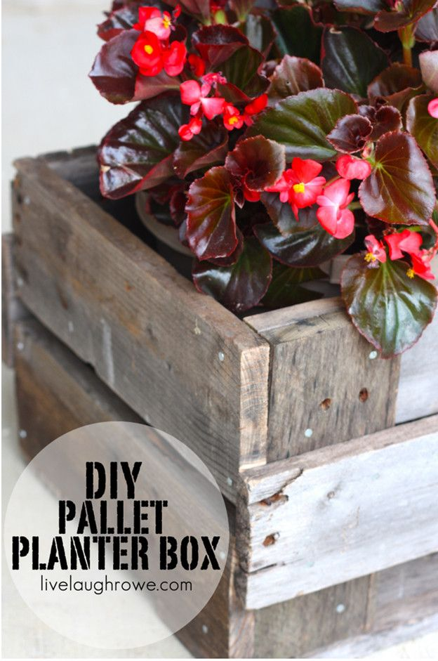 DIY cubierta Tutorial Planter Box | artesaniasdebricolaje.ru/pallet-projects-gardening-supplies/