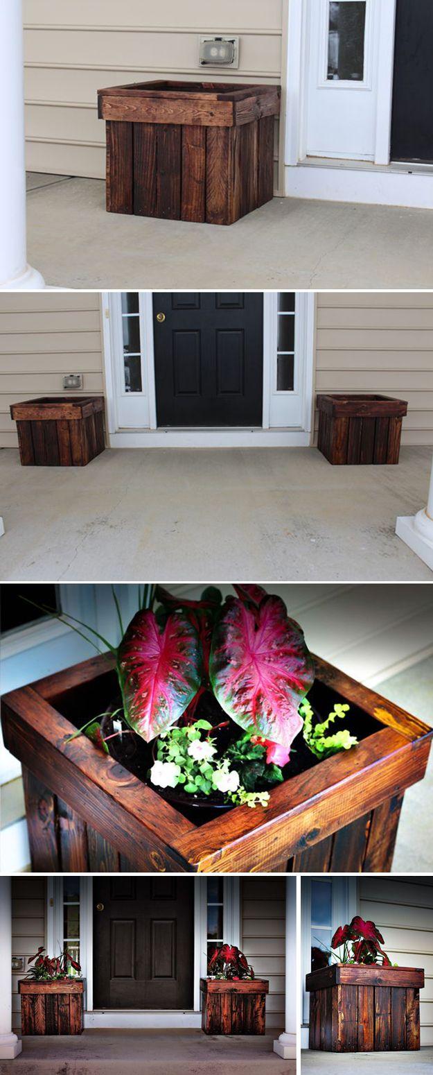 Cómo hacer fácil Pallet Planter Box | artesaniasdebricolaje.ru/pallet-projects-gardening-supplies/