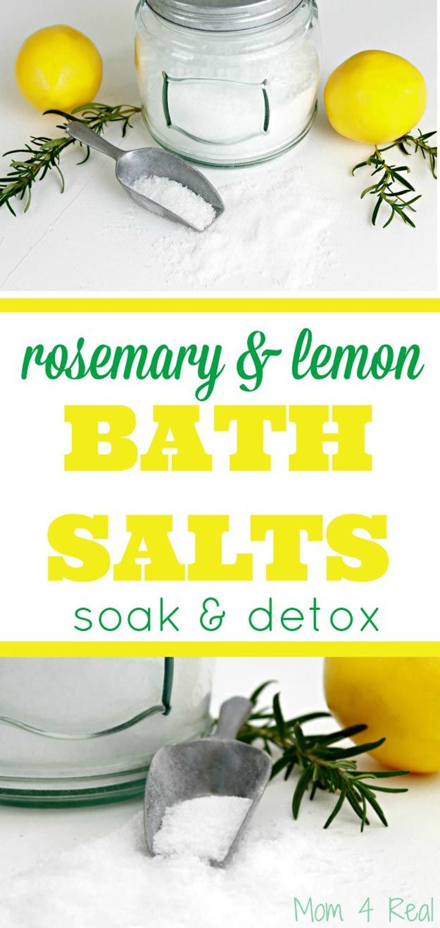 Simple DIY Receta Detox Bath | http://artesaniasdebricolaje.ru/12-diy-detox-baths/