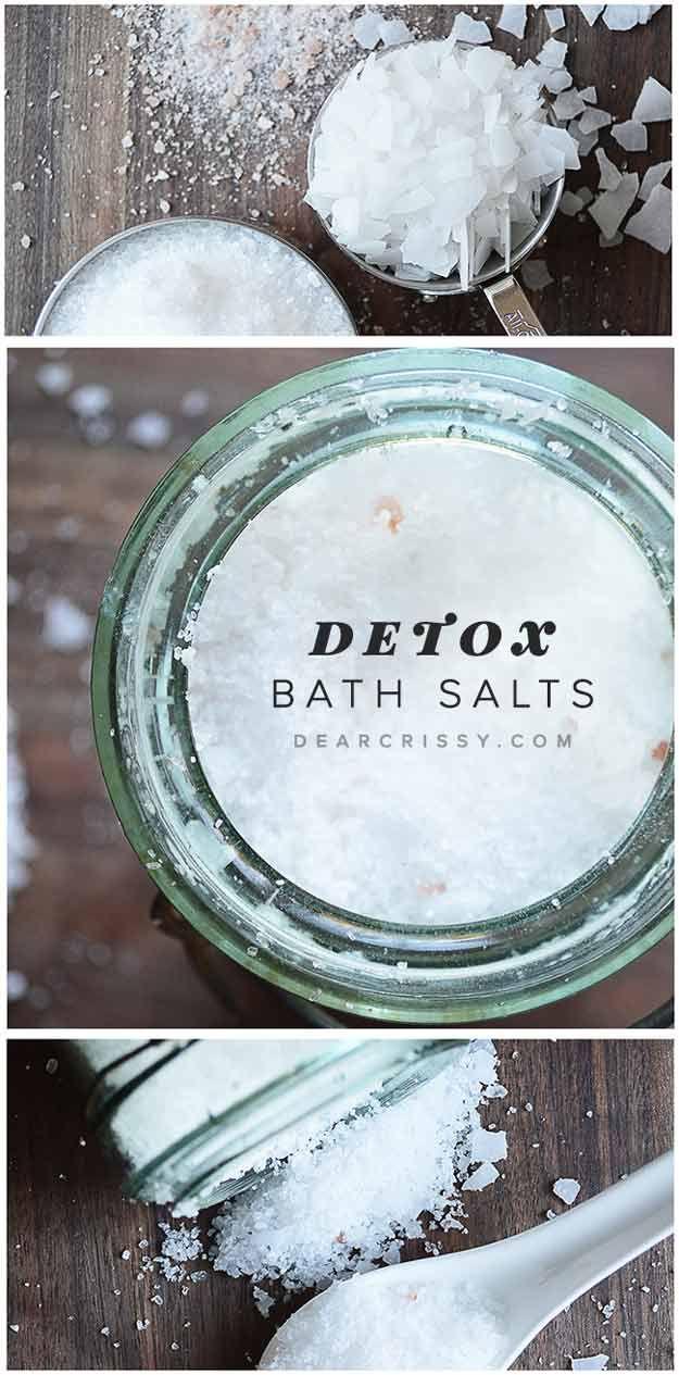 Bricolaje Body Detox Baño con Sales | http://artesaniasdebricolaje.ru/12-diy-detox-baths/