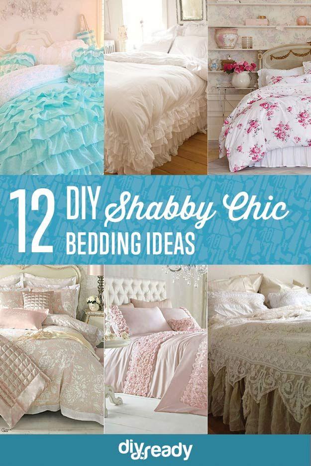 12 de bricolaje Ideas elegante lamentable de cama | http://artesaniasdebricolaje.ru/12-diy-shabby-chic-bedding-ideas/