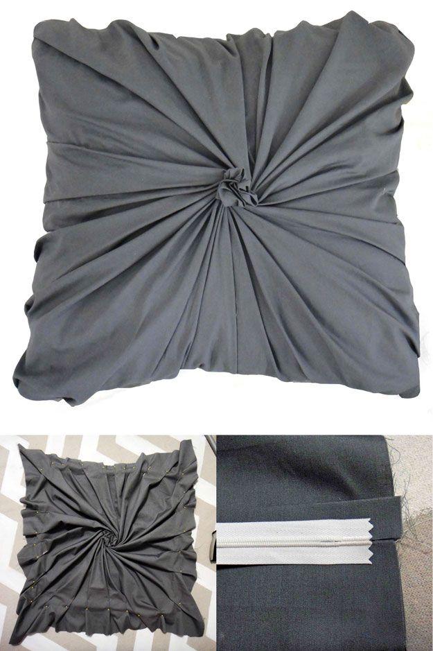 Bricolaje Shabby Chic Almohadas | http://artesaniasdebricolaje.ru/12-diy-shabby-chic-bedding-ideas/