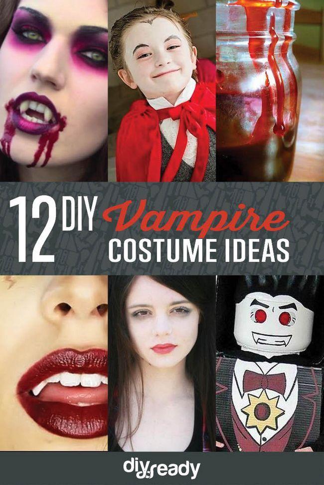 12 de bricolaje Ideas de disfraces de vampiros, ver más en http://artesaniasdebricolaje.ru/diy-vampire-costume