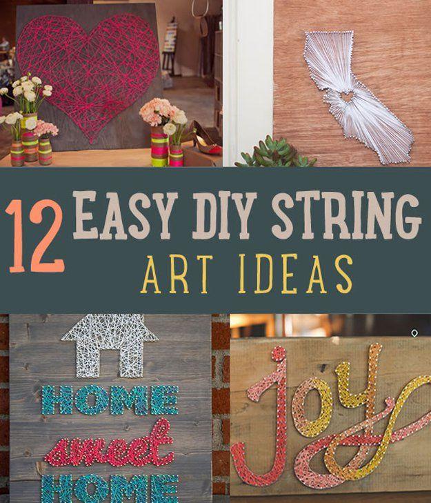 Fotografía - 12 Fácil de bricolaje Ideas de Decoración Uso de cuerdas