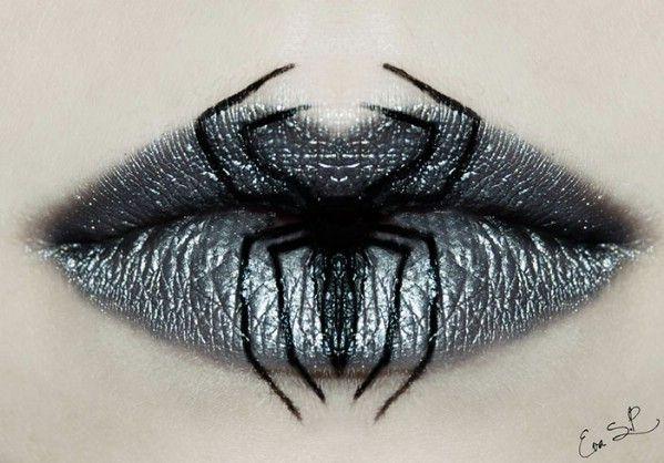 14 del genio de bricolaje Ideas de maquillaje de Halloween Arte de labios