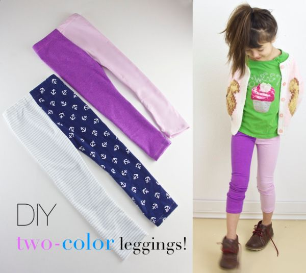 Hecho en casa Leggings Tutorial para Niños | artesaniasdebricolaje.ru/15-diy-clothes-for-kids-you-should-make/