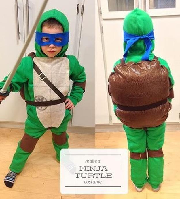 niños astutos Tortuga Ninja idea del traje, ver más a http://artesaniasdebricolaje.ru/diy-ninja-turtle-costume-ideas