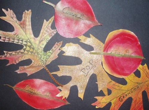 Hoja Tarjetas del lugar - 15 Fabulous Fall Leaf Crafts for Kids