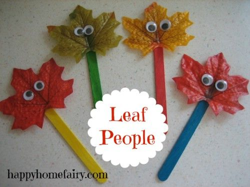 Hoja Puppets - 15 Fabulous Fall Leaf Crafts for Kids