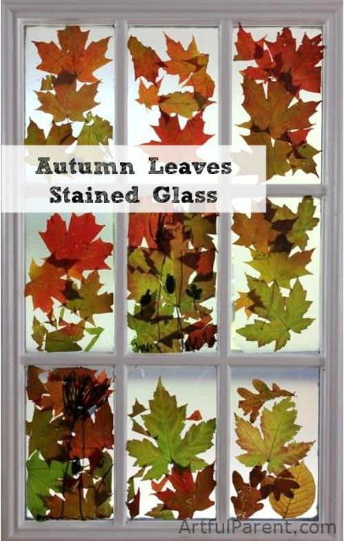 Hoja del otoño Vidrieras - 15 Fabulous Fall Leaf Crafts for Kids