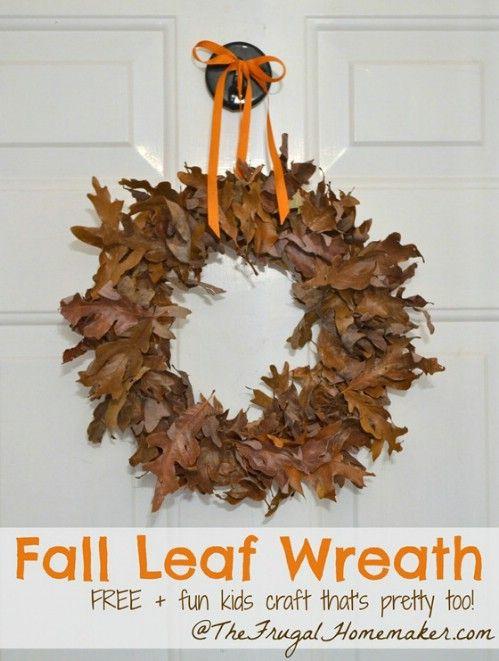 Guirnalda del otoño - 15 Fabulous Fall Leaf Manualidades para niños