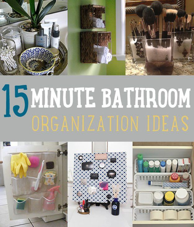 15 Minuto Baño Ideas Organización | http://artesaniasdebricolaje.ru/organization-hacks-bathroom-storage-ideas/