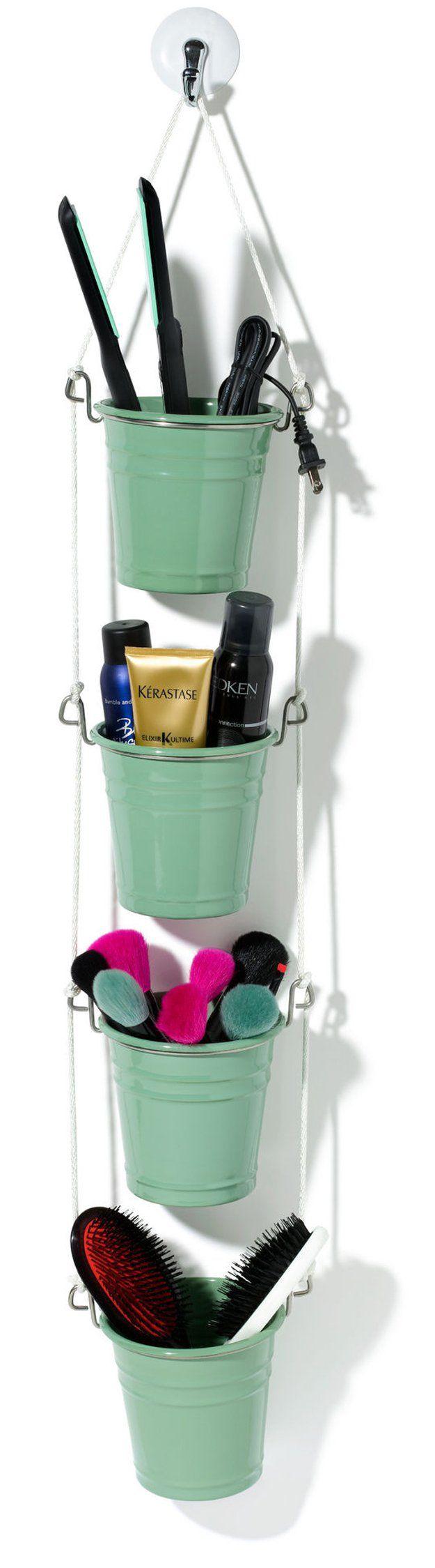 Fácil y creativo Organizador de baño para niñas | http://artesaniasdebricolaje.ru/organization-hacks-bathroom-storage-ideas/