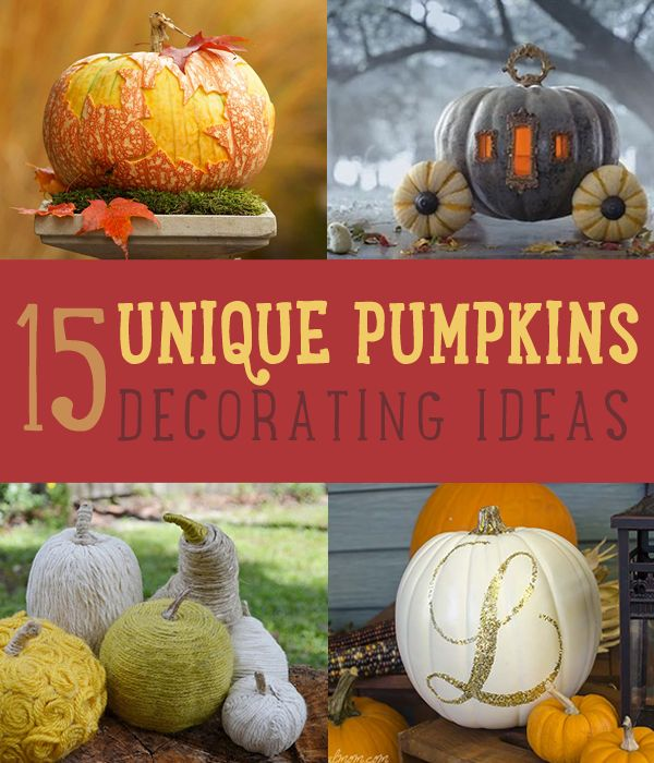 15 ideas únicas Calabaza Decoración