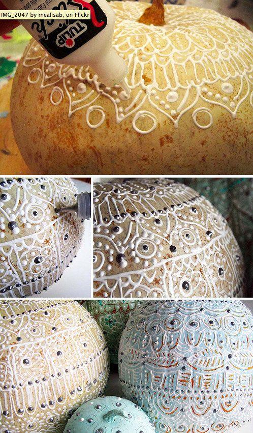 15 Ideas de decoración de calabaza