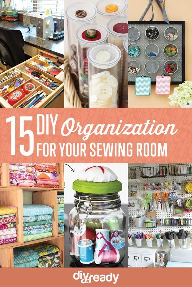 Fotografía - 15 de costura de habitaciones Organización de bricolaje