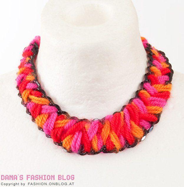 Tutorial sobre DIY fácil Collar | http://artesaniasdebricolaje.ru/diy-necklaces-diy-jewelry/