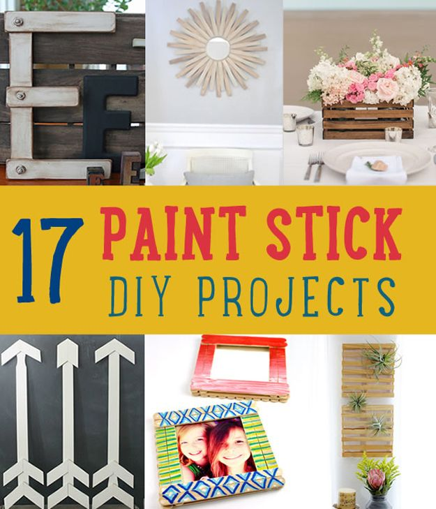 17 Paint palillo Proyectos DIY | http://artesaniasdebricolaje.ru/paint-stick-diy-projects/