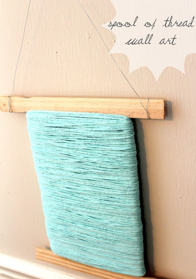 Pintura DIY del palillo de Proyecto de Arte de pared | http://artesaniasdebricolaje.ru/paint-stick-diy-projects/