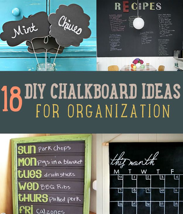 Fotografía - 18 Ideas Pizarra DIY Para ayudarle a organizarse