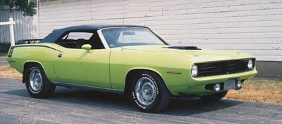 Este 1970 Plymouth'Cuda convertible was part of the 1970-71 Plymouth Barracuda Convertibles line.
