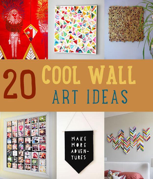 Fotografía - 20 frescos Decoración de pared Ideas de arte para que usted pueda Artesanía