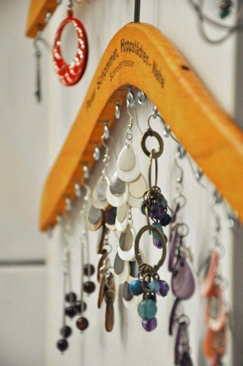 Joyería Organizador - 20 maneras creativas de organizar y decorar con perchas