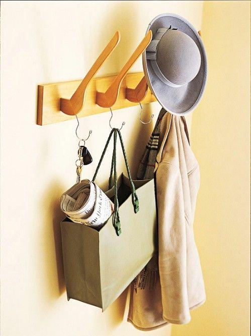 Madera Perchero Percha - 20 maneras creativas de organizar y decorar con perchas