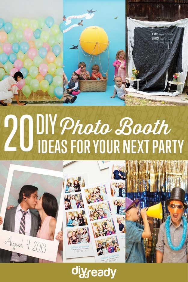 20 de bricolaje Ideas de Photo Booth