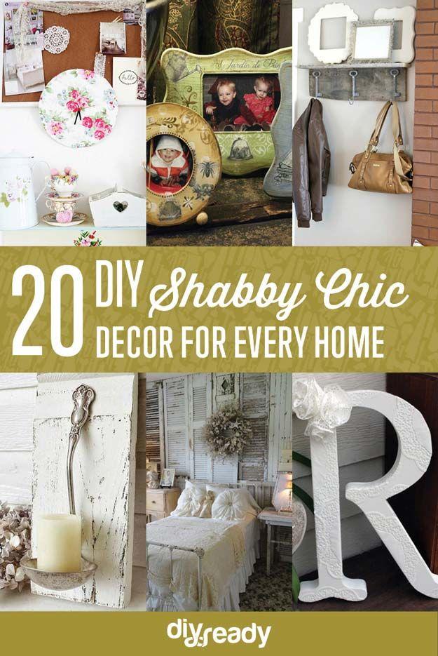 20 DIY Shabby Chic Decoración | http://artesaniasdebricolaje.ru/diy-shabby-chic-decor/