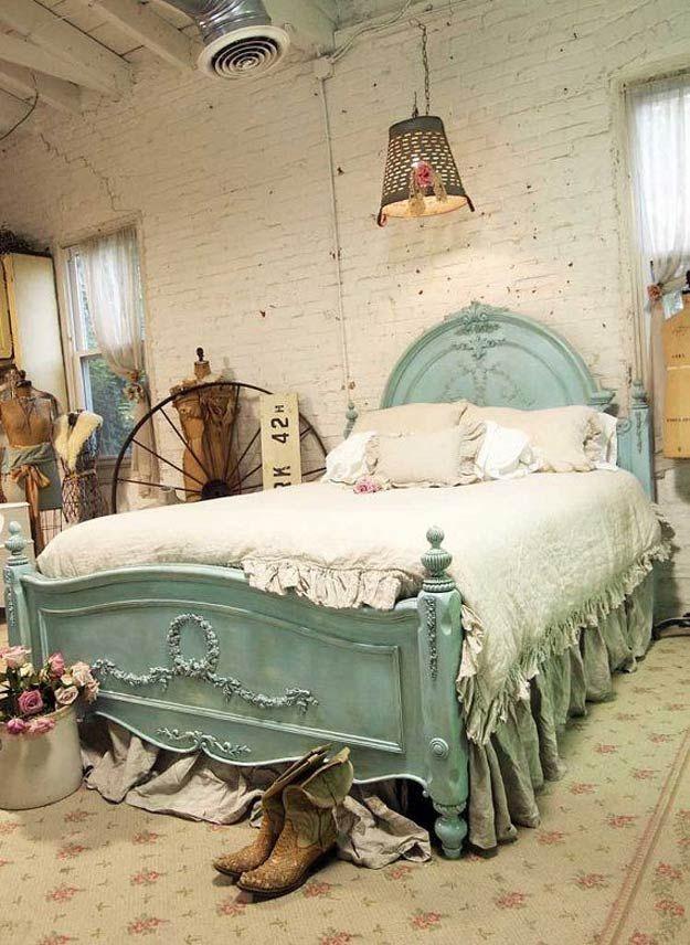 Ideas Dormitorio Vintage y Rústico Shabby Chic | http://artesaniasdebricolaje.ru/diy-shabby-chic-decor/