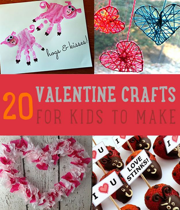 20 hechos en casa de San Valentín Artesanía Para Niños Para Hacer
