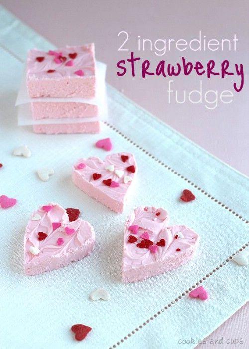 2 Ingrediente Strawberry Fudge - 20 Sabroso y romántico Día de San Valentín Treats Le encantará