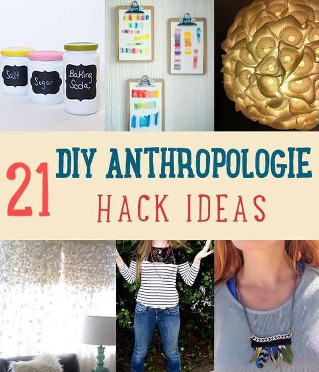21 de bricolaje Ideas Anthropologie Hack | http://artesaniasdebricolaje.ru/diy-decor-anthropologie-hacks/