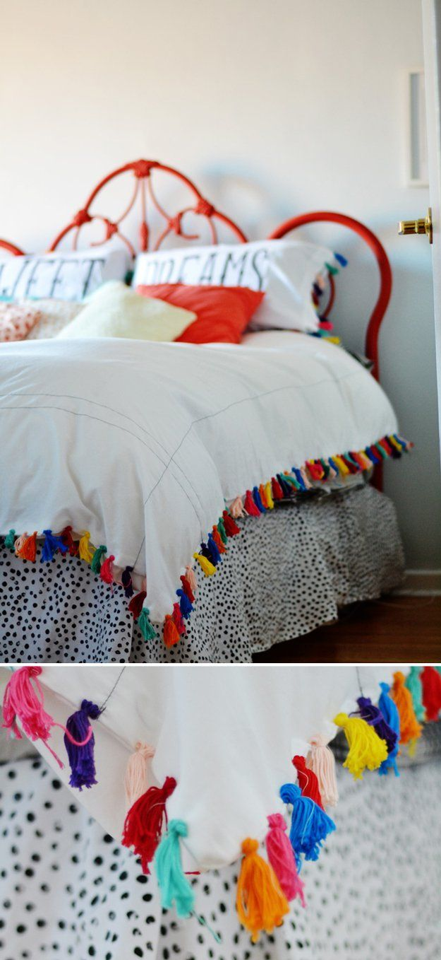 Duvet cover Anthropologie Hack Ideas | http://artesaniasdebricolaje.ru/diy-decor-anthropologie-hacks/